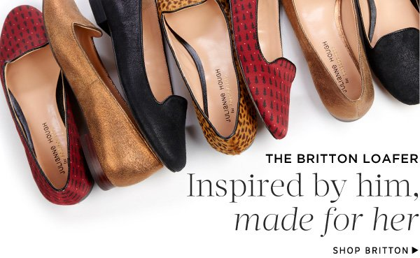 The Britton Loafer: Inspired by him, made for her. Shop Britton