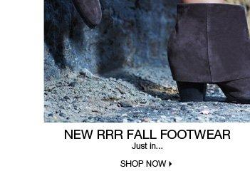 New RRR Fall Footwear