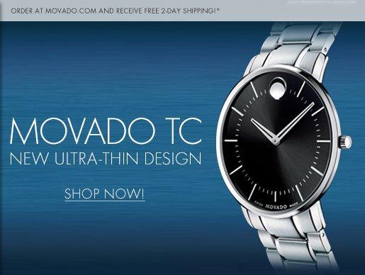 MOVADO TC - NEW ULTRA-THIN DESIGN - SHOP NOW!