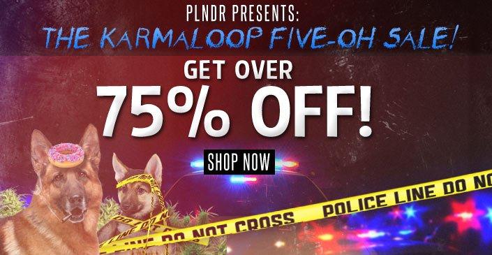 Click to shop Karmaloop at 75% off