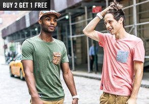 Shop Buy 2, Get 1 Free: Tees & Raglans