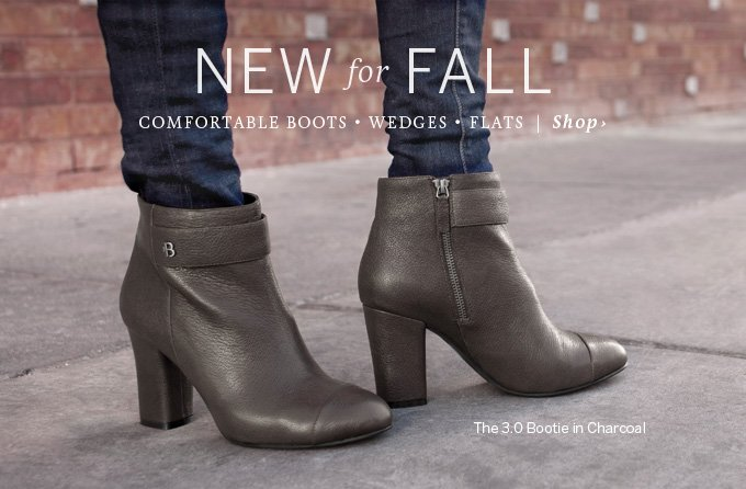 New for fall: Comfortable boots - wedges - flats - Shop