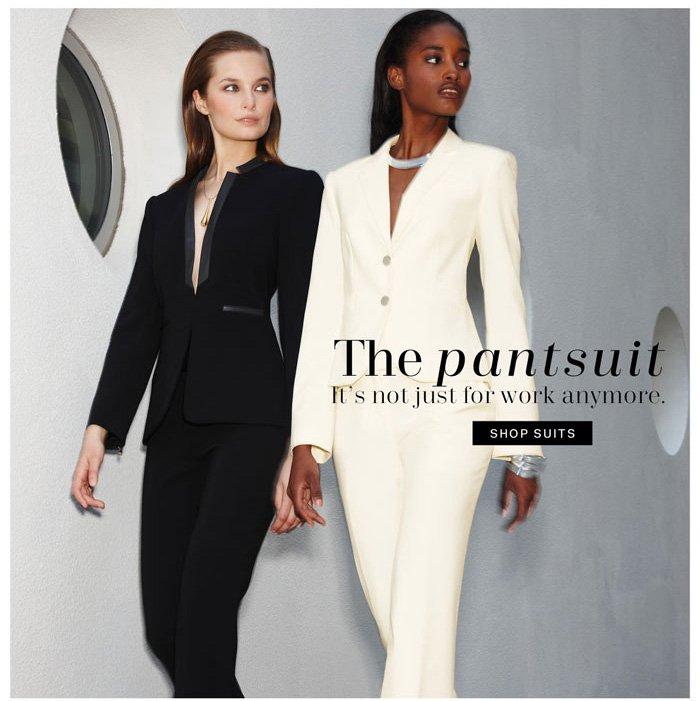 The pantsuit. Shop suits.