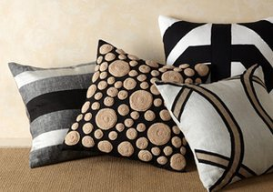 Sofa Chic: Hand-Stitched Pillows