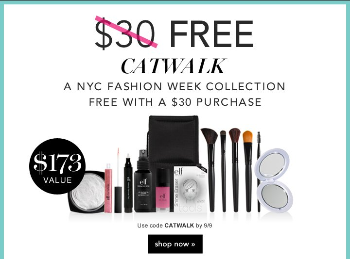 A NYC Fashion Week Collection - GET IT FREE - Code: CATWALK  - shop now