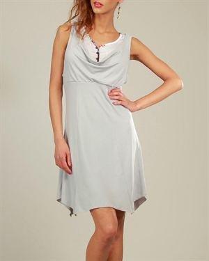 L33 Draped Neckline Dress