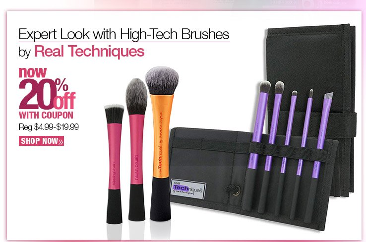 Expert Look with High-Tech brushes by Real Techniques NOW 20% off with coupon. SHOP NOW