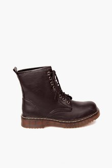 PLATINUM LACED BOOTS 40