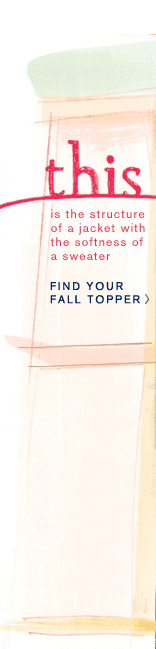 Find your fall topper.