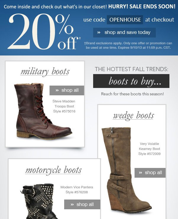 Fashion Watch - Fall's Hottest Boots!
