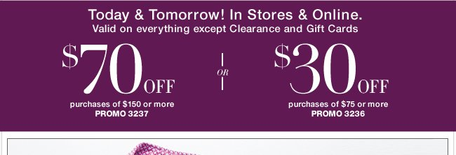 Save $70 with your new coupon!