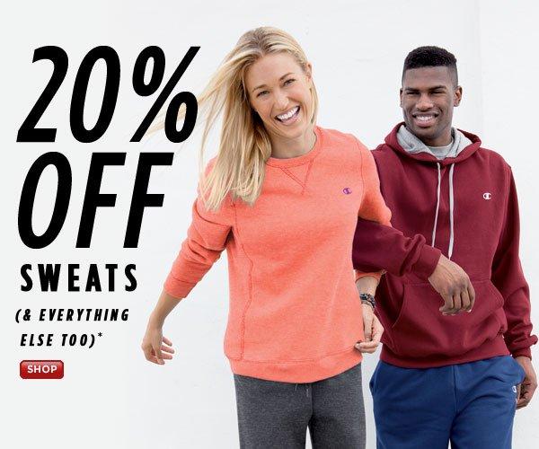 SHOP Sweats 20% Off