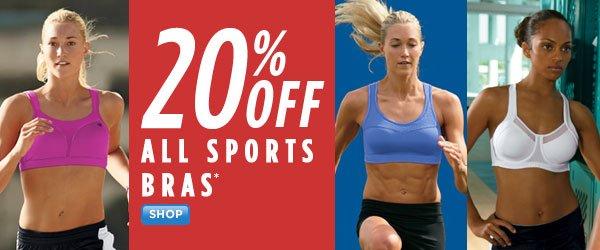 SHOP Sports Bras 20% Off
