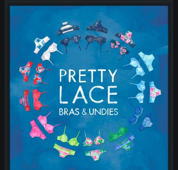 PRETTY LACE BRAS & UNDIES