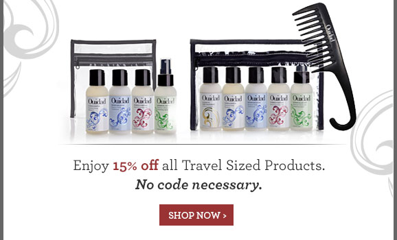 Enjoy 15% off all Travel Sized Products. No code necessary. - SHOP NOW