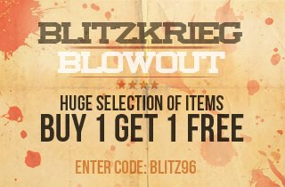 Blitzkrieg Blowout: Buy 1, Get 1 Free
