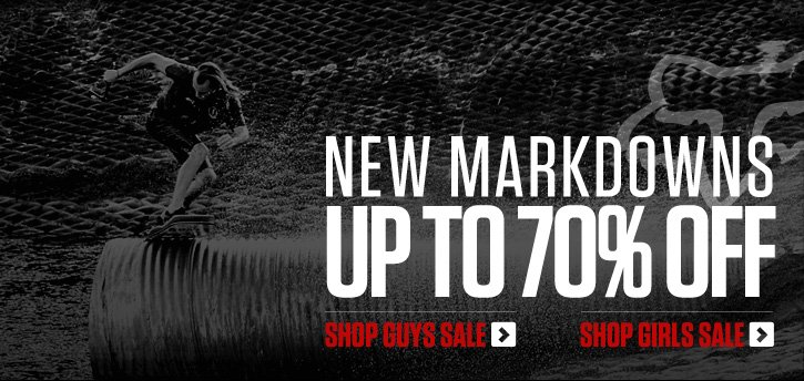 New Markdowns - Up to 70% Off