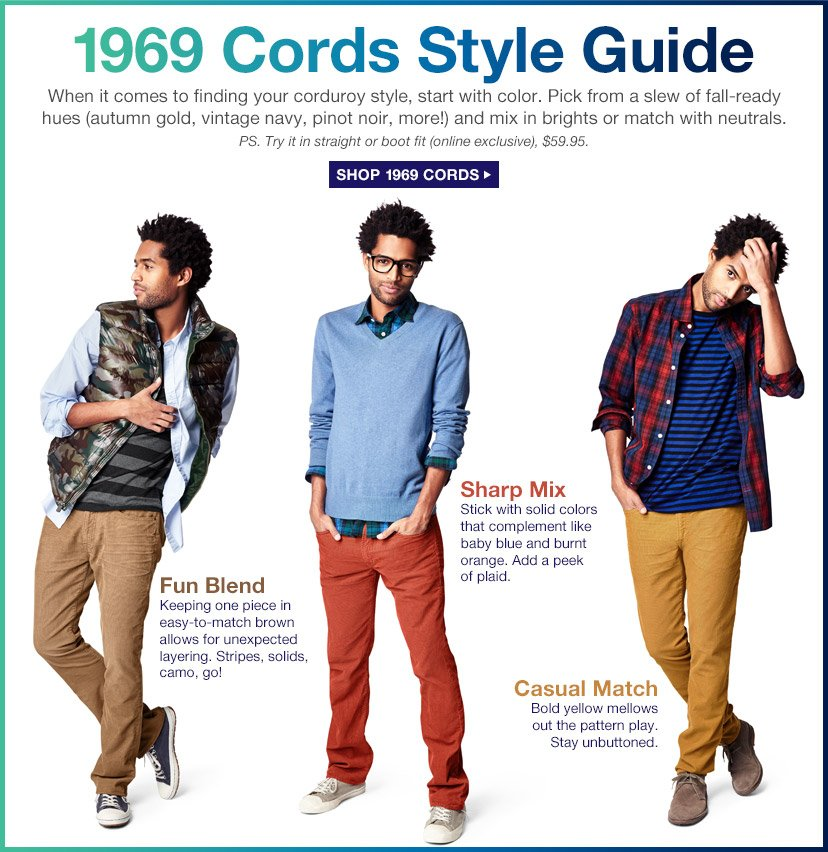 1969 Cords Style Guide | SHOP 1969 CORDS