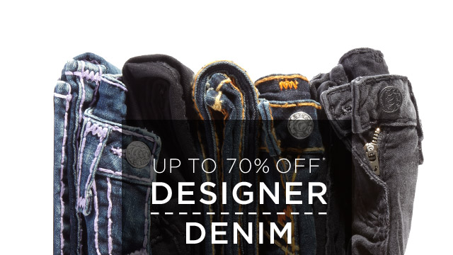 Up To 70% Off* Designer Denim