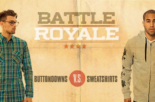 Buttondowns VS. Sweatshirts