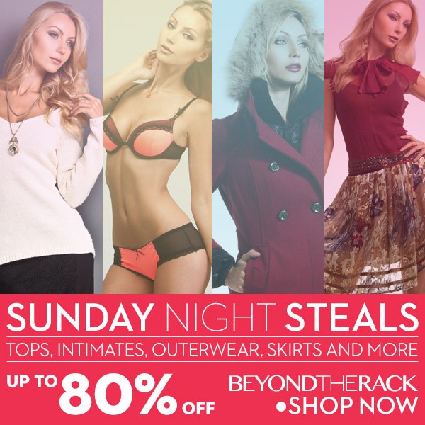 Sunday Night Steals 80% Off