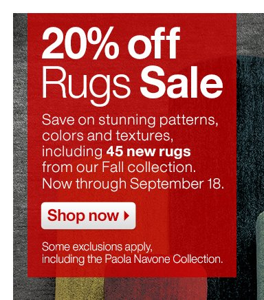 20% off Rugs Sale