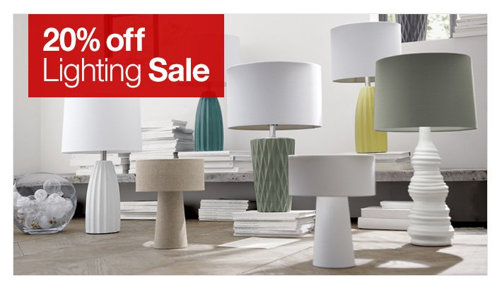 20% off Lighting Sale