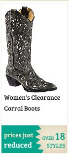 Womens Clearance Corral Boots on Sale