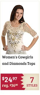 Womens Cowgirls and Diamonds Tops on Sale