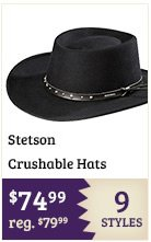 Stetson Crushable Hats