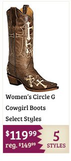 Select Circle G Boots on Sale