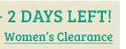 Womens Clearance