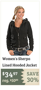Womens Sherpa Lined Hooded Jacket