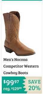 Mens Nocona Competitor Western Cowboy Boots on Sale