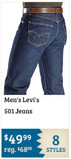Mens Levis 501 Jeans on Sale
