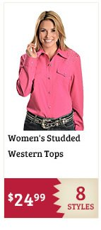 Womens Studded Western Tops on Sale