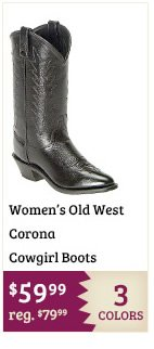 Old West Corona Cowgirl Boots on Sale