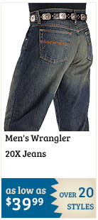 Mens Wrangler 20X Jeans on Sale