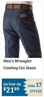 Mens Wrangler Cowboy Cut Jeans on Sale