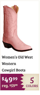 Old West Western Cowgirl Boots on Sale