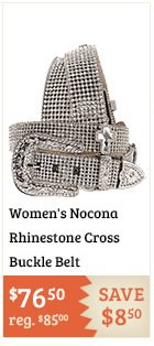 Womens Nocona Rhinestone Cross Buckle Belt on Sale