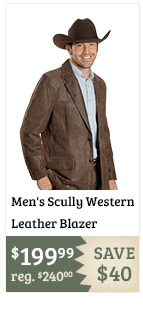 Mens Scully Western Leather Blazer