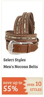Select Mens Nocona Belts on Sale