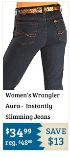Womens Wrangler Jeans Aura Instantly Slimming on Sale