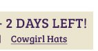 Cowgirl Hats on Sale