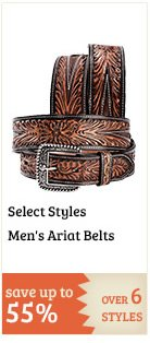 Select Mens Ariat Belts on Sale