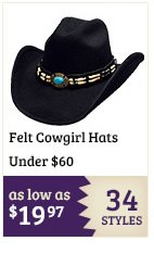 Felt Cowgirl Hats Under $60