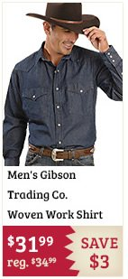 Mens Gibson Trading Co Woven Work Shirt on Sale