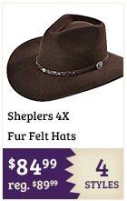 Sheplers 4X Fur Felt Hats