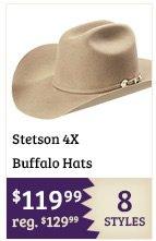 Stetson 4X Buffalo Hats